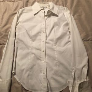 NY & Co White Button Down Shirt